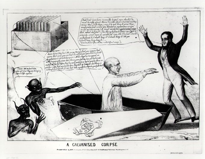 A galvanised corpse, US National Library of Medicine (1836)